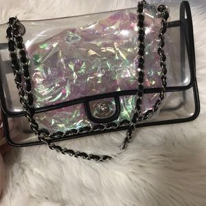 Authentic translucent Chanel handbag